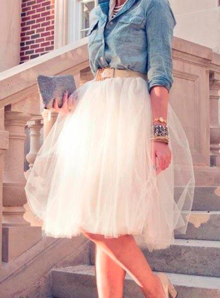 белая юбка пачка фото