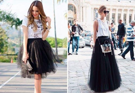 черная юбка пачка мини макси фото