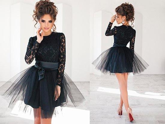 черная юбка пачка мини фото