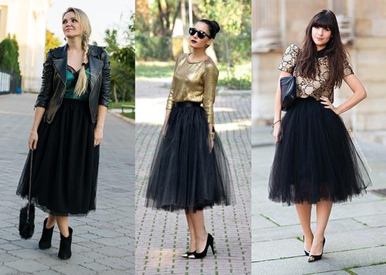 черная юбка пачка фото