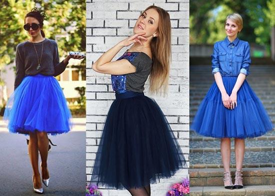 синяя юбка пачка фото