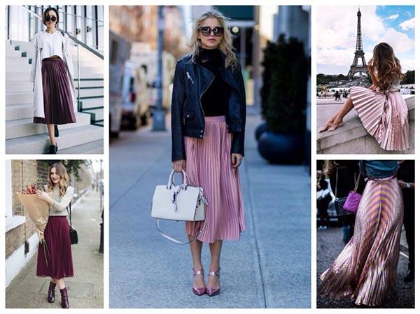 плиссе бордо и розовая фото