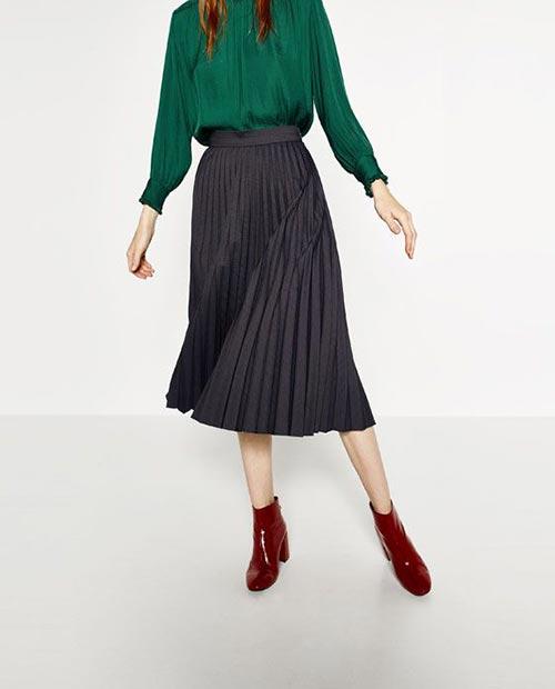 длинная юбка плиссе фото
