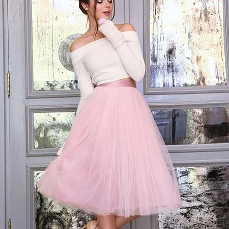 розовая юбка пачка фото