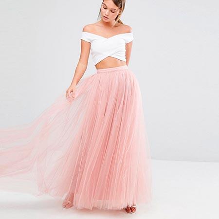 розовая юбка пачка макси фото