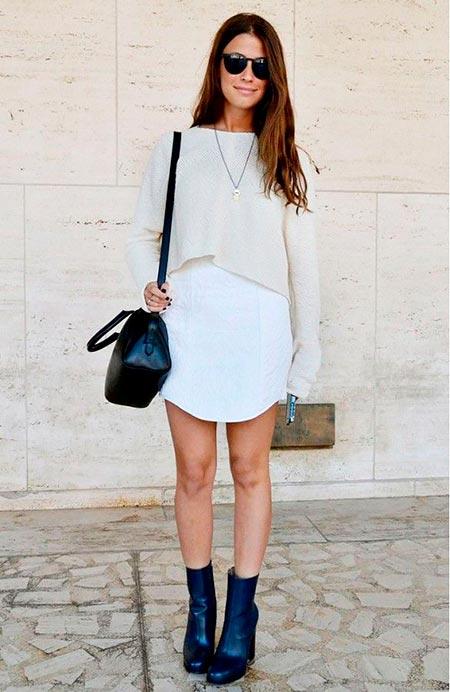 белое платье свитер