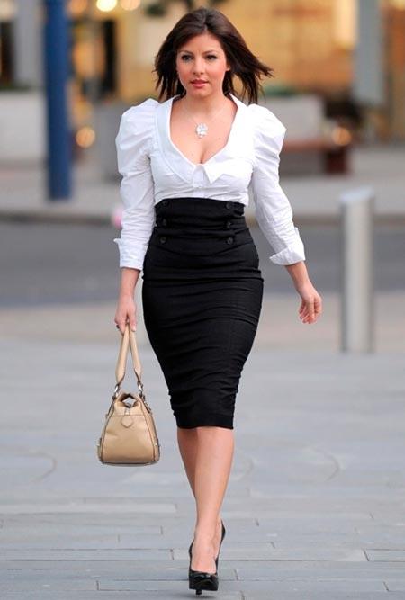 черная юбка карандаш для офиса