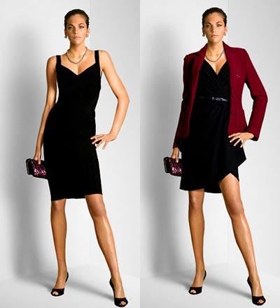 черное платье без рукавов фото