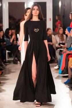черное-платье макси