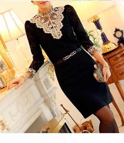 черное платье миди фото