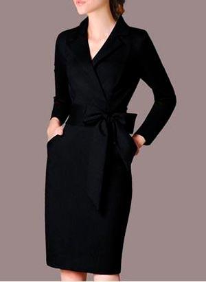 черное платье офисный стиль