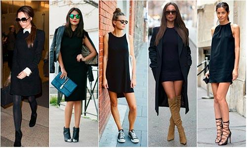 черное платье с чем комбинировать