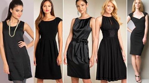 черное платье с чем носить фото