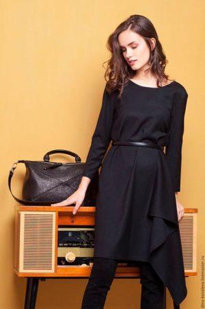 черное платье с чем сочетать