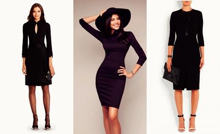 черные платья с чем носить