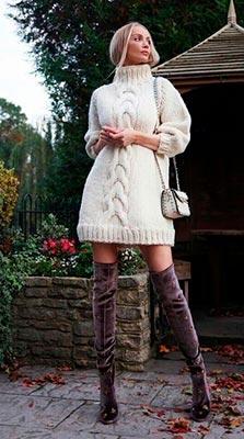 короткое вязаное платье фото