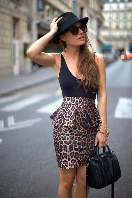 леопардовая юбка карандаш фото