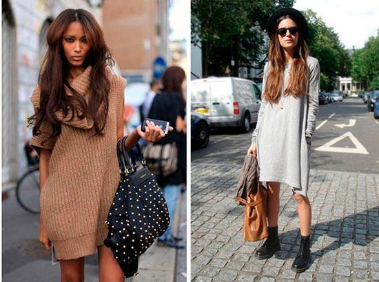 платье свитер фото