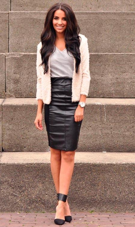 00b8ec6c5f7 Черная юбка карандаш  с чем носить и сочетать в этом году