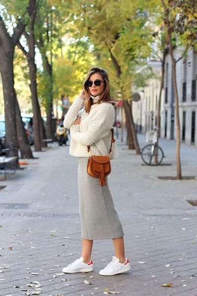светлая юбка карандаш фото