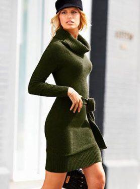 темно зеленое платье