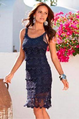 вязаное платье для лета фото
