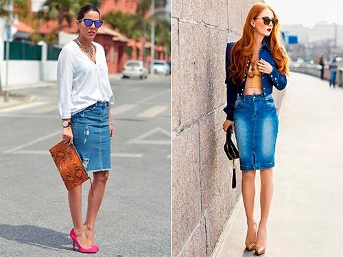 юбка карандаш джинсовая фото