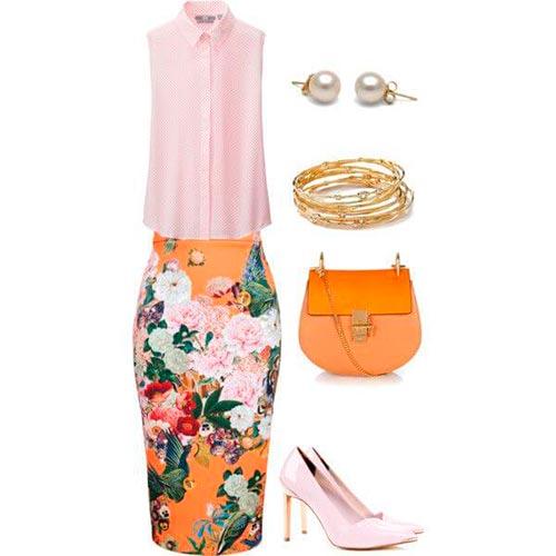 юбка карандаш с чем носить летом