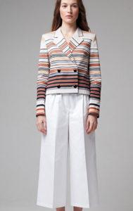 Белые брюки кюлоты с жакетом фото