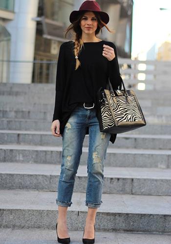 Короткий свитер оверсайз фото