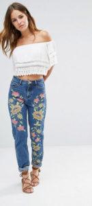Модельные джинсы бойфренды фото