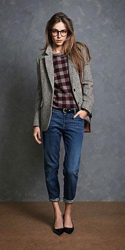 Тёмные джинсы бойфренды фото