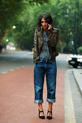 Современные джинсы бойфренды фото