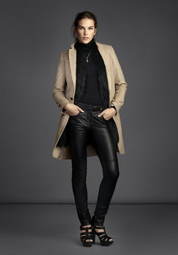 Современные кожаные брюки фото