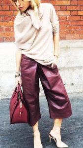Широкие укороченные штаны фото