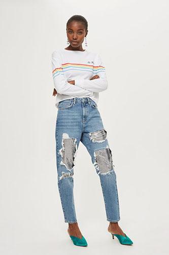 Стильные джинсы бойфренды фото