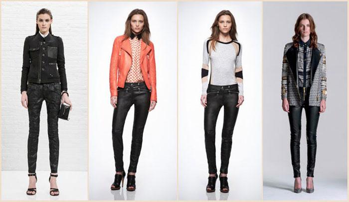 Разные модели кожаных брюк фото