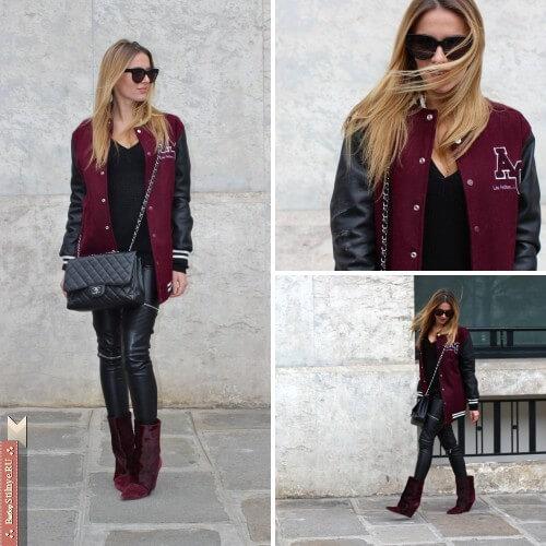 Чёрные кожаные штаны под куртку фото