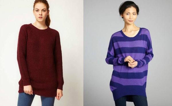 Модные широкие свитера фотов