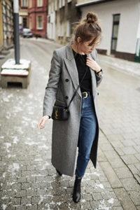 Длинное пальто оверсайз фото