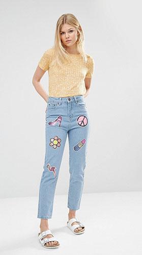 Модные джинсы бойфренды фото