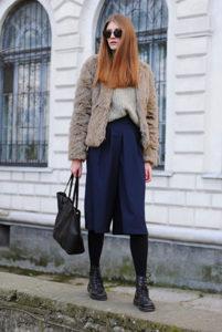 С чем одевать брюки кюлоты осенью фото