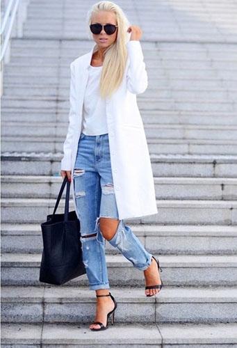 Рваные джинсы бойфренды фото