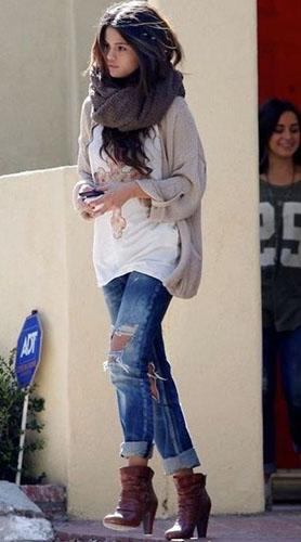 Тёплая обувь под джинсы бойфренды фото