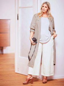Белые широкие укороченные штаны фото