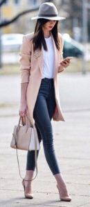 Пальто оверсайз под джинсы фото