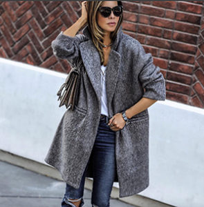 Укороченное пальто оверсайз фото
