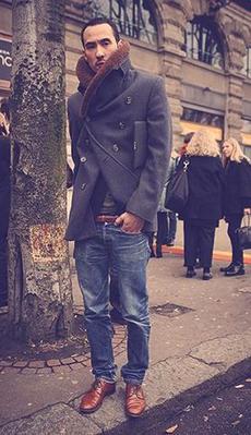 Мужское пальто под джинсы фото
