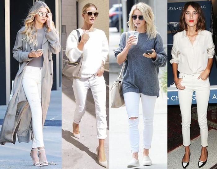 Короткие светлые джинсы скинни фото