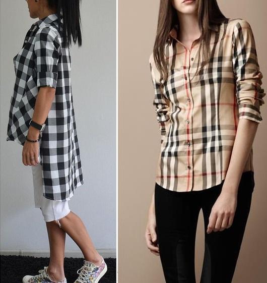 Модная рубашка в клетку фото